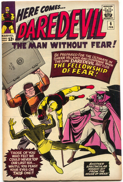 Daredevil 6 1st Series Marvel 1965 VG FN 1st Mr Fear Stan Lee Wally Wood