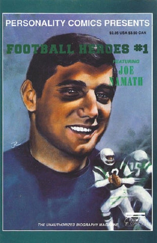 Personality Comics Presents Football Heroes 1 Joe Namath 1991