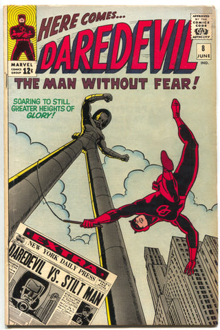 Daredevil 8 1st Series Marvel 1965 FN 1st Stilt-Man Stan Lee Wally Wood