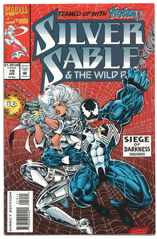 Silver Sable And The Wildpack 19 Marvel 1993 NM- Venom