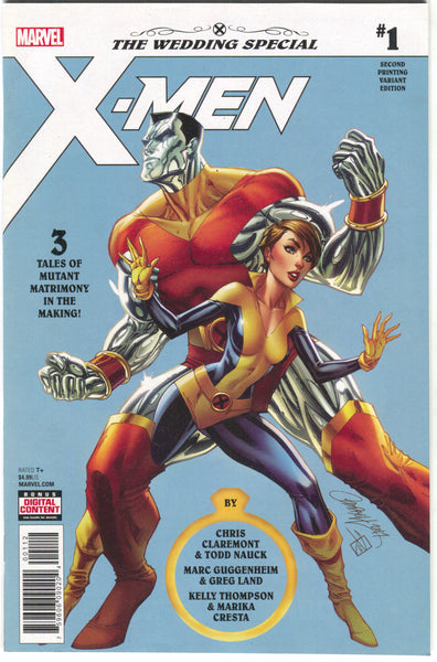 X-MEN WEDDING SPECIAL #1 2nd Print J Scott Campbell Variant Colossus Kitty Pryde Shadowcat (05/16/2018)