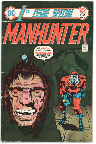 First 1st Issue Special 5 DC 1975 VG Manhunter Beheading Jack Kirby