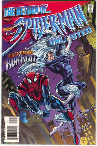 Spider-Man Unlimited 11 1st Series Marvel 1996 NM Black Cat