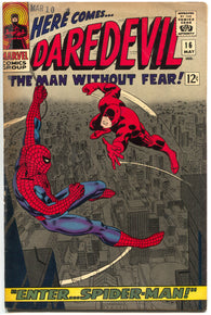 Daredevil 16 1st Series Marvel 1966 FN Stan Lee John Romita Spider-Man