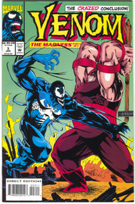Venom Madness 3 Marvel 1993 NM Juggernaut Kelley Jones