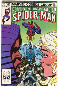 Spectacular Spider-Man 82 Marvel 1983 VF Punisher Cloak Dagger Kingpin Black Cat