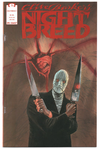 Nightbreed 1 Marvel Epic 1990 VF Clive Barker