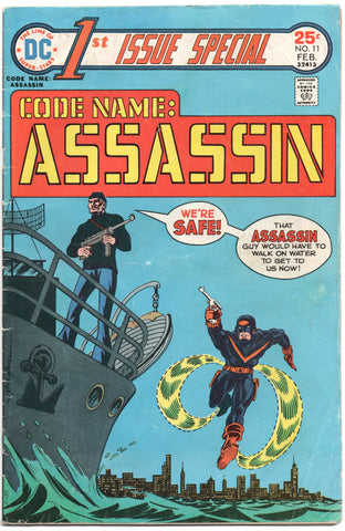 First 1st Issue Special 11 DC 1976 VG Code Name Assassin Mike Grell