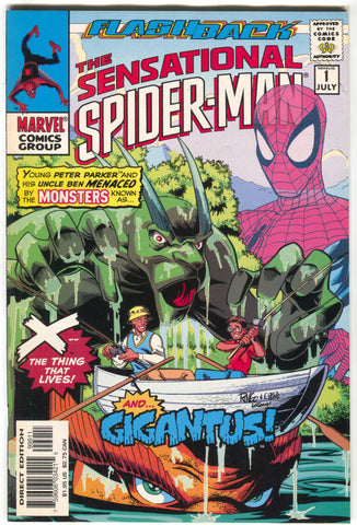 Sensational Spider-Man -1 Minus 1 Marvel 1997 VF NM Flashback stan Lee Groot
