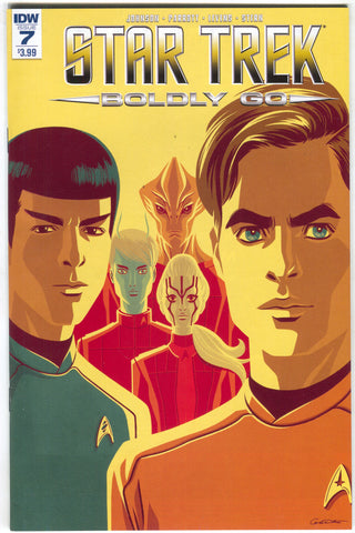 Star Trek Boldly Go 7 A IDW 2017 NM George Caltsoudas