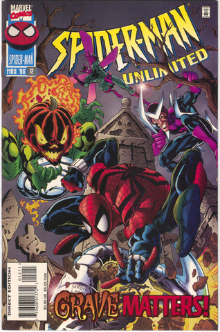 Spider-Man Unlimited 12 1st Series Marvel 1996 NM Jack O Lantern Boomerang Beetle