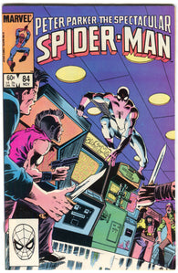 Spectacular Spider-Man 84 Marvel 1983 FN VF Trial Of Punisher Origin Black Cat Arcade