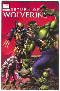 Return Of Wolverine 1 Marvel 2018 NM Mico Suayan Variant Incredible Hulk 181 Homage