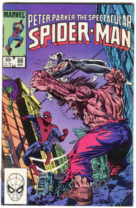 Spectacular Spider-Man 88 Marvel 1984 FN VF Black Cat Mr. Hyde Cobra Al Milgrom