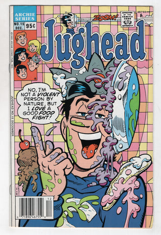 Jughead 15 2nd Series Archie 1989 VF Pie Fight Checkboard