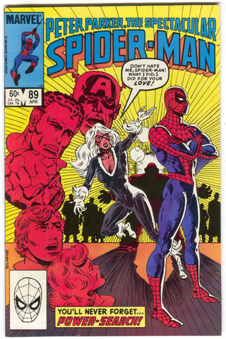 Spectacular Spider-Man 89 Marvel 1984 FN VF Black Cat Captain America Kingpin