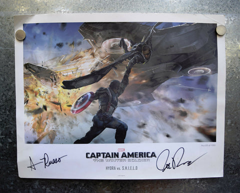 Captain America Winter Soldier Lobby Card Print 14x11 Signed Joe Anthony Russo