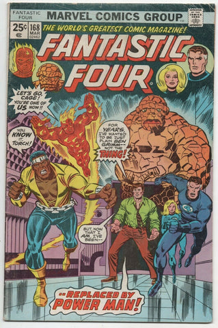 Fantastic Four 168 Marvel 1976 FN Rich Buckler Power Man