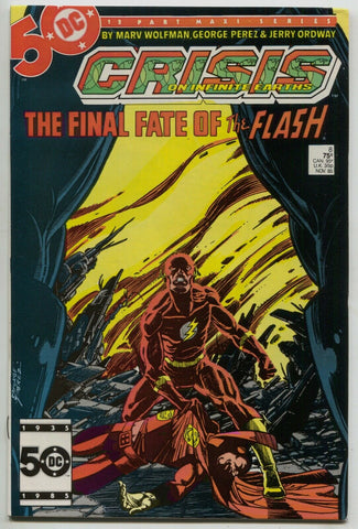 Crisis On Infinite Earths 8 DC 1985 NM George Perez Marv Wolfman Death Flash