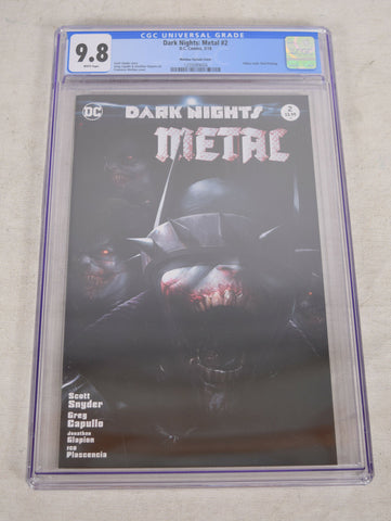 Dark Nights Metal 2 DC 2018 NM Francesco Mattina Variant CGC 9.8 Batman Joker