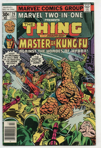 Marvel Two-In-One 29 1977 VF Thing Master Of Kung Fu Hydra Rich Buckler