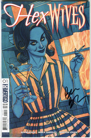 Hex Wives 1 B DC Vertigo 2018 NM Jenny Frison Variant Signed Ben Blacker