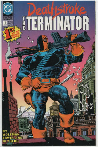 Deathstroke The Terminator 1 DC 1991 NM- Mike Zeck Marv Wolfman
