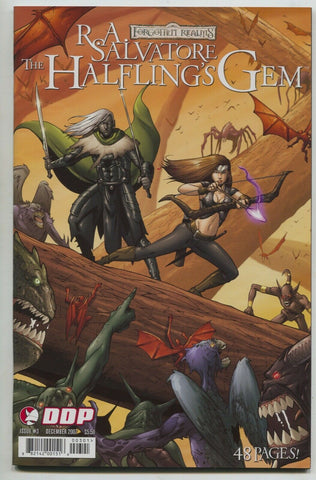 Forgotten Realms Halfling's Gem 3 A Devils Due 2007 NM Drizzt RA Salvatore