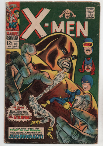 Uncanny X-Men 33 1st Series Marvel 1967 VG Juggernaut Man Dr Strange