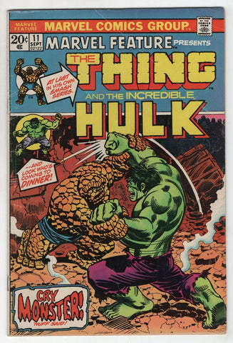 Marvel Feature 11 1973 FN Hulk Vs Thing John Romita Jim Starlin