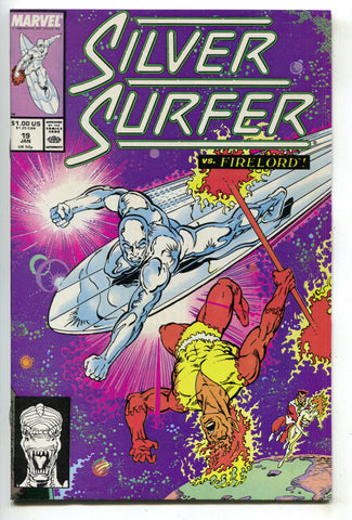 Silver Surfer 19 2nd Series Marvel 1989 NM Galactus Fantastic Four Firelord