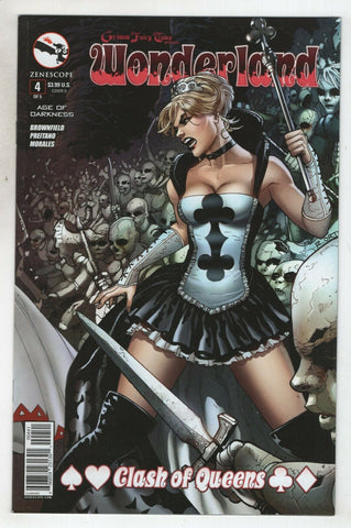 Grimm Fairy Wonderland Clash Of Queens 4 D Zenescope 2014 NM Emilio Laiso GFT