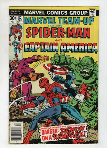Marvel Team-Up 52 1976 FN VF Spider-Man Captain Falcon
