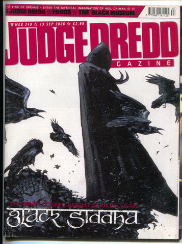 Judge Dredd Megazine 249 Fleetway 2006 FN Neil Gaiman