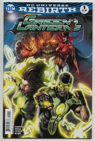 Green Lanterns 1 A DC 2016 NM Robson Rocha Jessica Cruz Simon Baz