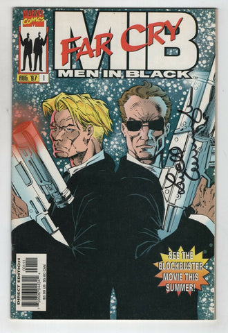 Men In Black Far Cry 1 Marvel 1997 VF NM Signed Lowell Cunningham MIB Movie