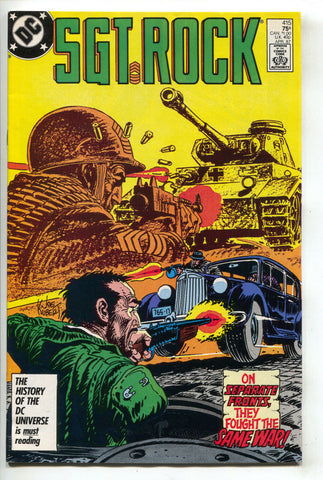 Sgt Rock 415 DC 1987 VF Joe Kubert Nazi WWII Tank