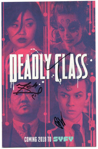 Deadly Class 1 Image 2018 NM SDCC Cast Photo Variant Signed 3x