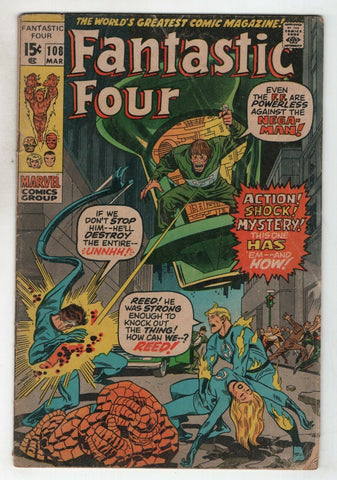 Fantastic Four 108 Marvel 1971 VG Stan Lee John Buscema Annihilus