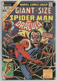 Giant Size Spider-Man 1 Marvel 1974 VG Dracula Team-Up Gil Kane Strange Tales