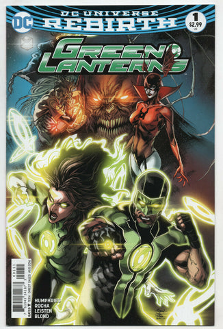 Green Lanterns 1 A DC 2016 NM+ 9.6 Rebirth Jessica Cruz Simon Baz Corps
