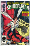Spectacular Spider-Man 105 Marvel 1985 NM Wasp Gang War Newspaper Cigar