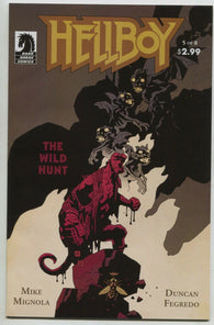 Hellboy The Wild Hunt 5 Dark Horse 2009 NM Mike Mignola