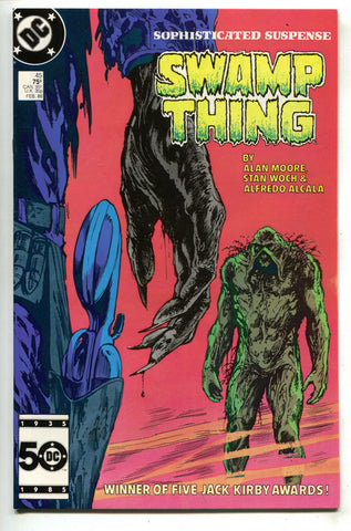 Swamp Thing 45 2nd Series DC 1986 NM- Alan Moore John Totleben Shootout