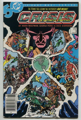 Crisis On Infinite Earths 3 DC 1985 VF Marv Wolfman Superman JLA