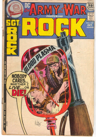 Our Army At War 237 DC 1971 VG Joe Kubert Sgt Rock Donate Blood Plasma