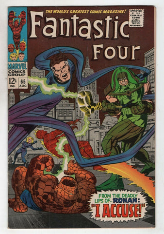 Fantastic Four 65 Marvel 1967 GD VG 1st Ronan The Accuser Kree Stan Lee