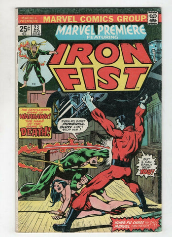 Marvel Premiere 23 1975 FN Iron Fist Colleen Wing Gil Kane