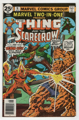 Marvel Two In One 18 1976 FN VF Thing Scarecrow