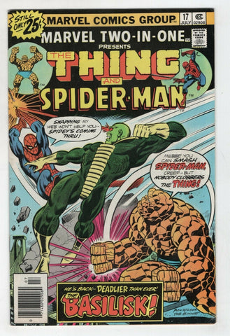 Marvel Two In One 17 1976 FN VF Thing Ka-zar Spider-man Ron Wilson